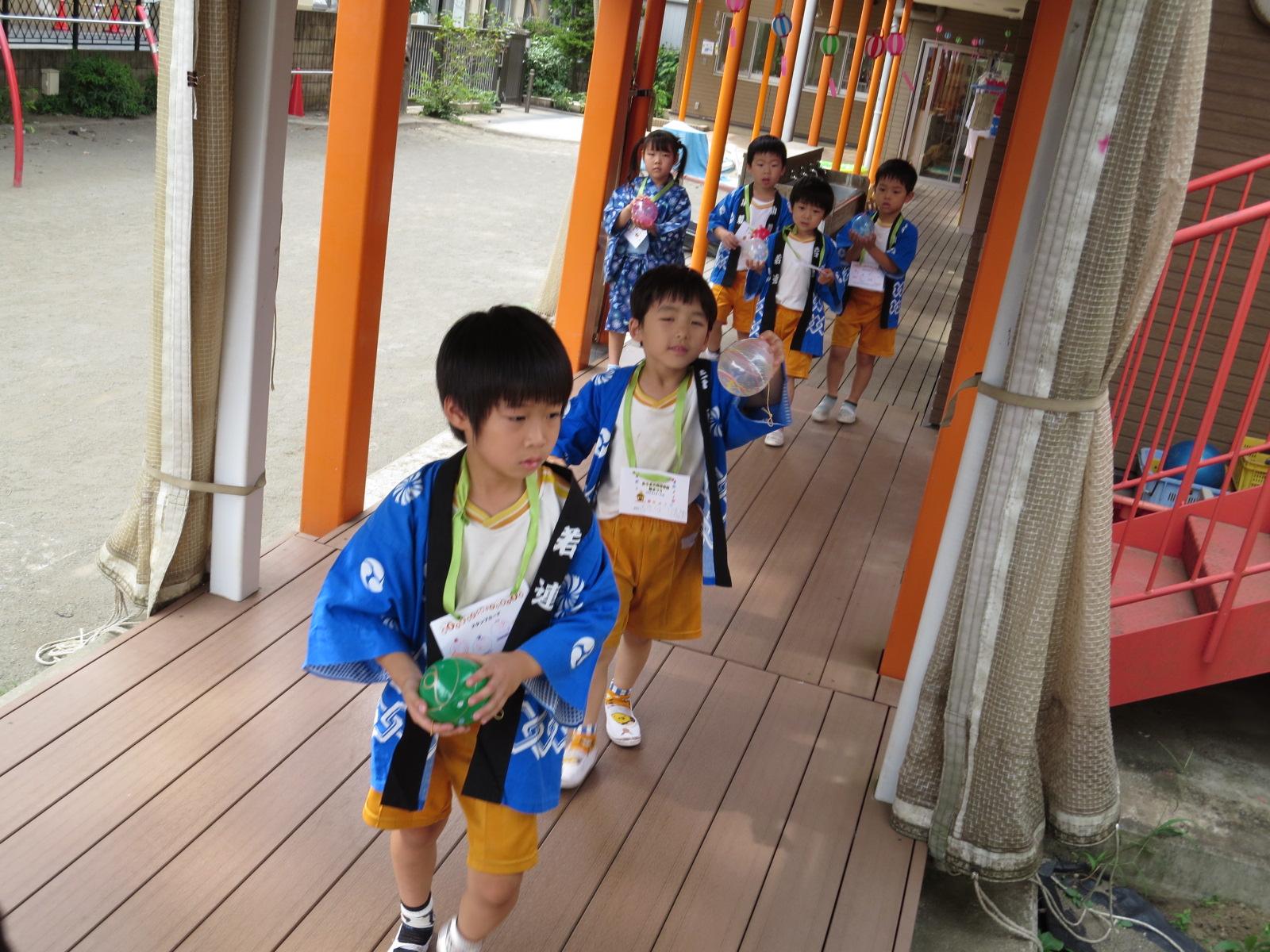 おうぎ組(5歳児)✩夏祭り